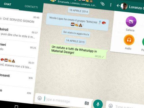 WhatsApp ed il suo (sporco) material design.